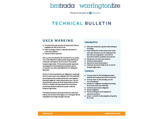 UKCA Technical Bulletin