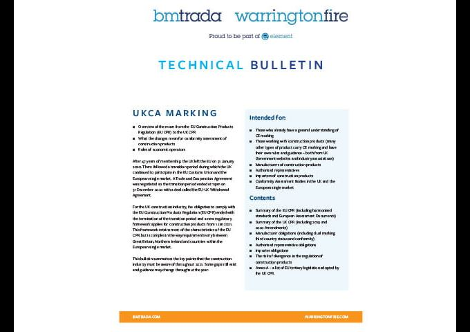 UKCA Technical Bulletin