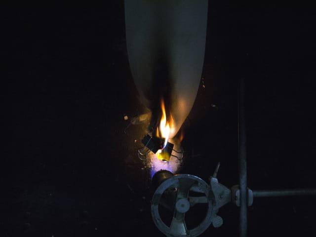 Textile flammability testing