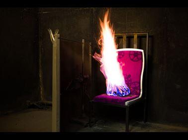 火车座椅防火测试