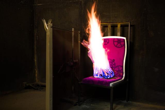 火车座椅消防测试