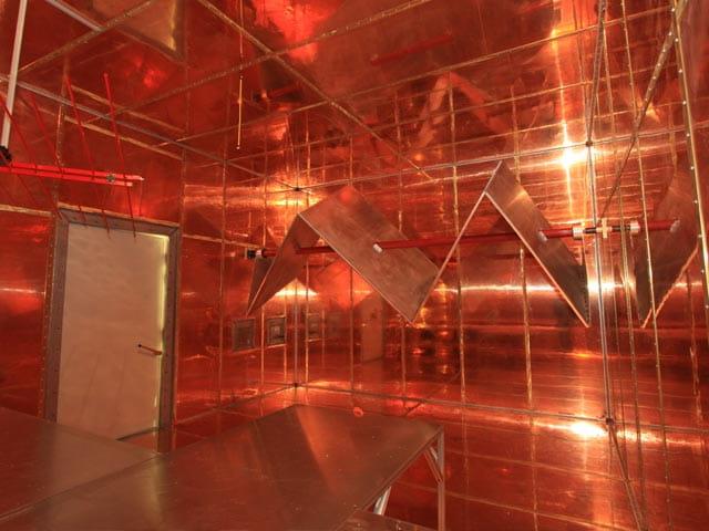 Large HIRF Chamber Testing