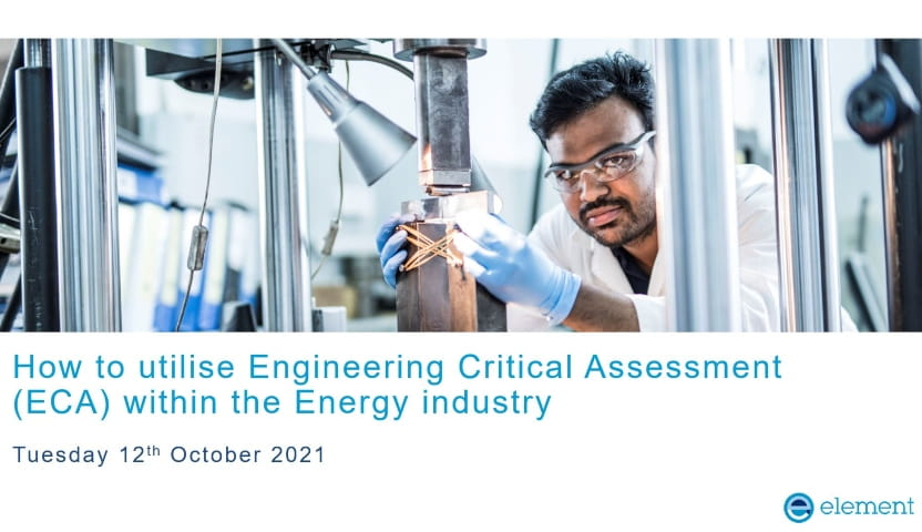 Webinar ECA within the Energy industry