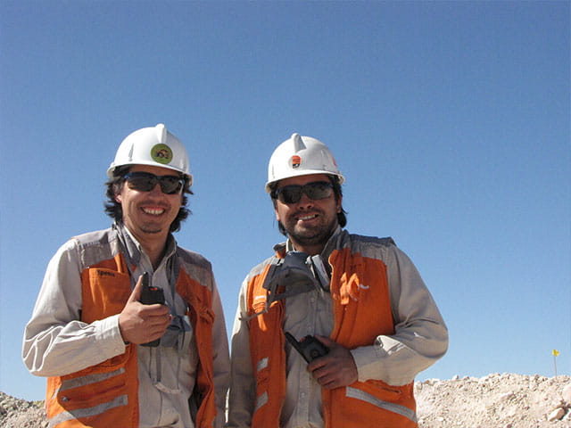 Two site inspectors giving thumbs up