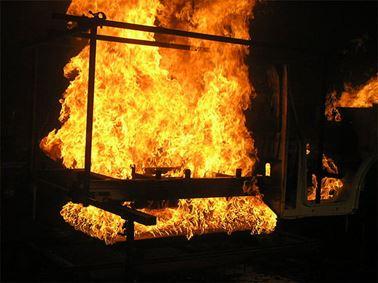 Automotive fire testing