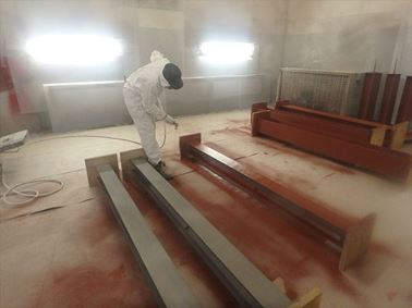 Structural steelwork protection testing