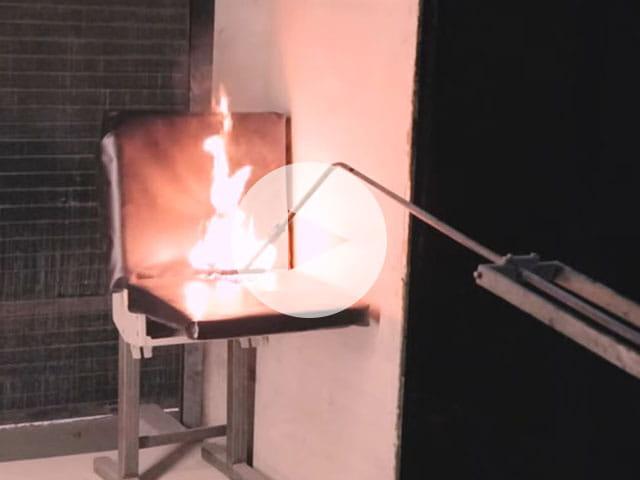EN 45545b Rail seat burn test
